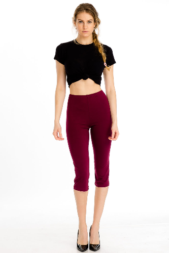 Stretch Knit Capri Leggings