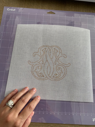 How-To: Using a Cricut to make a Needlepoint Canvas