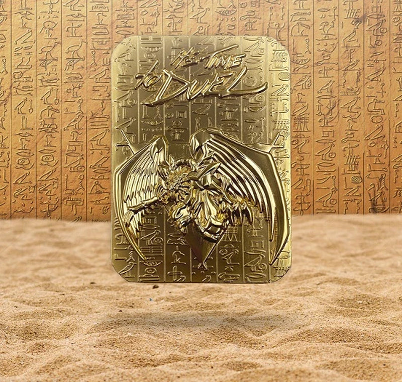 Yu-Gi-Oh! - Winged Dragon Of Ra 24K Gold Plated Metal God Card