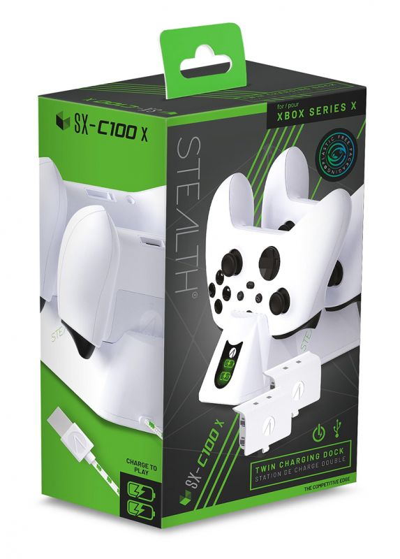 Stealth SX-C100X Twin Charging Dock - White (Xbox Series X)