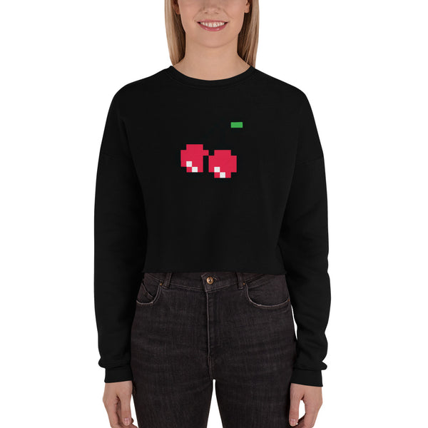 Crop Red Cherry Ladies Sweatshirt