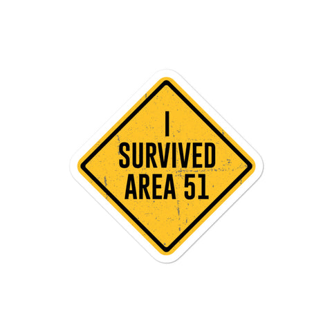 GameByte I Survived Area 51 Bubble-free stickers