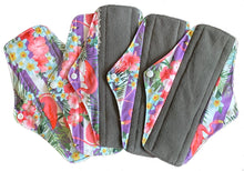 Load image into Gallery viewer, 5PK Ethel Mae Bamboo Charcoal Menstrual Pads