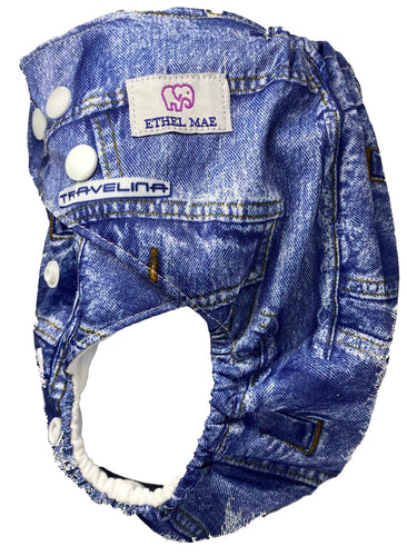 Ethel Mae Reusable Size Adjustable Pocket Diaper + Insert