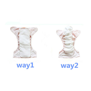 Ethel Mae 10PK Waterproof Reusable Size Adjustable Cloth Pocket Diaper + 10 Inserts