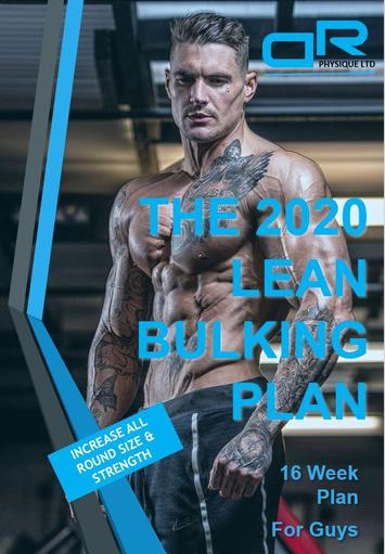 Dickerson Ross 2020 Lean Bulking Plan