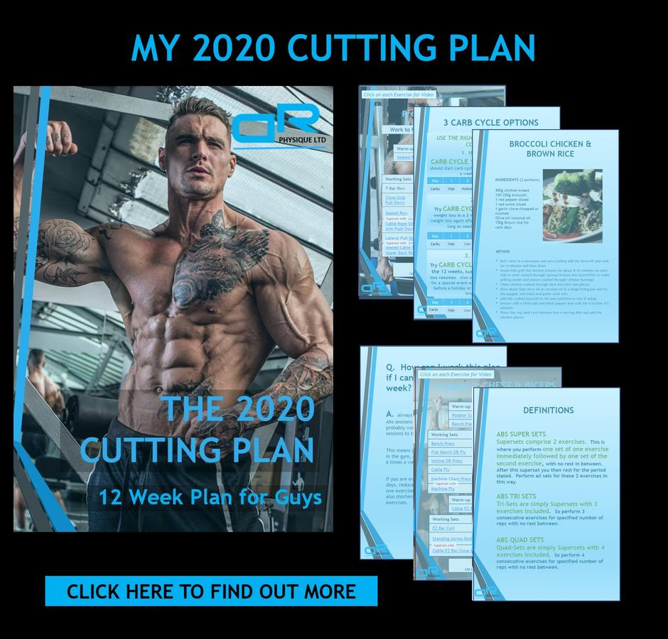Ross Dickerson 2020 Cutting Diet & Training