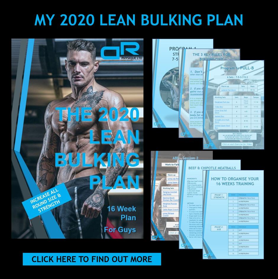 2020 Dickerson Ross Lean Bulking Diet & Training