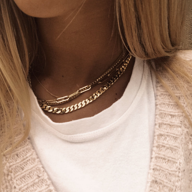 Multi Chain Necklace Gold