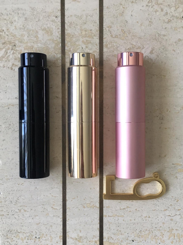 Luxe carry-on hand atomizer