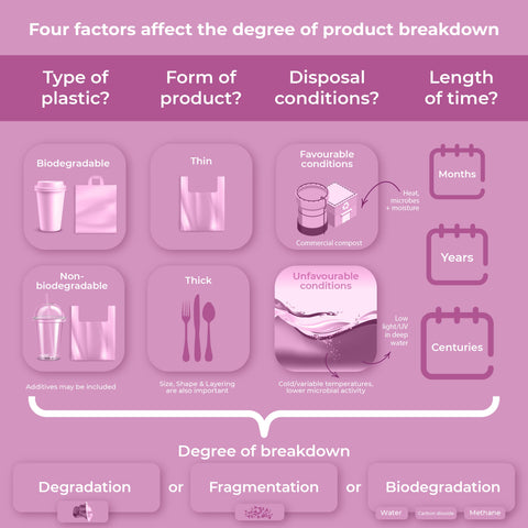 breakdown of biodegradable and non biodegradable items
