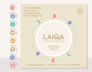 LAIQA Sanitary Pads - Day Pads+Night Pads  - Cotton Pads - Buy Online