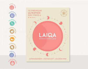 10 Premium ultrathin day pads buy online - MyLaiqa.com