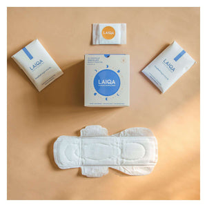 LAIQA Sanitary Pads - Night Pads - XL(10) - Cotton Pads - Buy Online