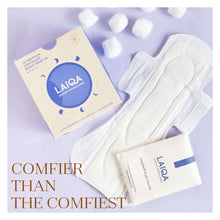Load image into Gallery viewer, LAIQA Sanitary Pads - Night Pads - XL(10) - Cotton Pads - Buy Online