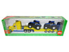 Camion model american cu platforma si tractoare New Holland SIKU 1805 1:87
