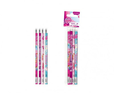 Set 4 creioane grafit HB cu guma My Little Pony