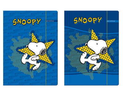 Dosar A4 din carton cu elastic Snoopy Peanuts™ by Charles M. Schulz