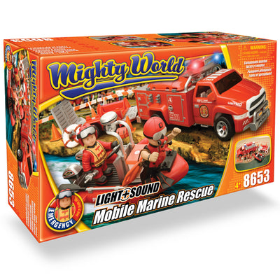 Echipa de salvare marina cu sunet si lumini Mighty World® Emergency