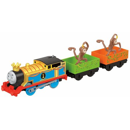 Jucarie Trenulet Locomotiva Thomas cu 2 vagoane Monkey Mania™ Thomas & Friends™ TrackMaster™ Fisher-Price® FXX55