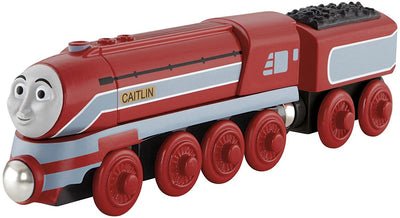 Locomotiva din lemn Caitlin cu vagon Thomas & Friends™ Wooden Railway Y5856