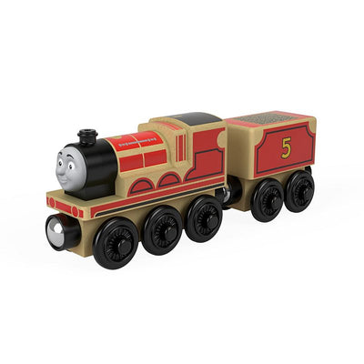 Locomotiva din lemn James cu vagon Thomas & Friends™ Wooden Railway FHM40