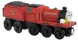 Locomotiva din lemn cu sunete si lumini James cu vagon Thomas & Friends™ Wooden Railway Learning Curve LC99103