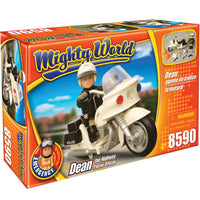 Politistul Dean cu motocicleta Mighty World® Emergency