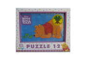 Puzzle din lemn 12 piese Winnie the Pooh