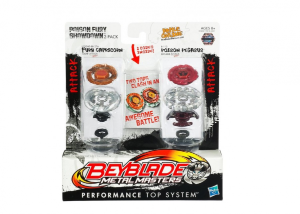 Set 2 titirezi Fury Capricorn vs Poison Pegasus Beyblade Metal Masters
