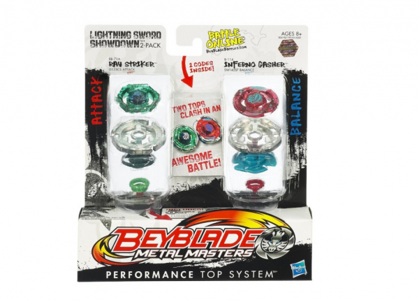 Set 2 titirezi Ray Stricker vs Inferno Gasher Beyblade Metal Masters