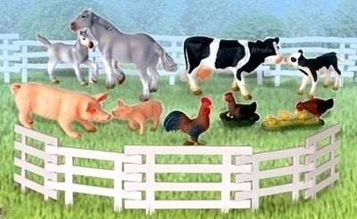 Set 9 animale ferma BBI Farm & Country