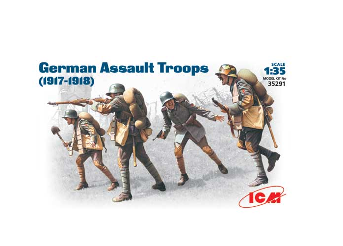 Set German Assault Troops 1917-1918 ICM