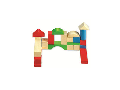 Set forme geometrice din lemn Junior Block Classic World® 2073