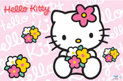 Suport farfurie copii napron Hello Kitty 43 x 28 cm
