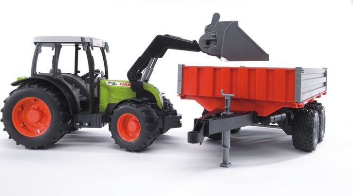 Tractor Claas Nectis 267 F cu Incarcator si Remorca Bruder® 02112