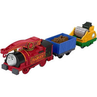 Trenulet locomotiva motorizata Harvey Helpful cu 2 vagoane Thomas & Friends™ TrackMaster™ FJK53 BMK93