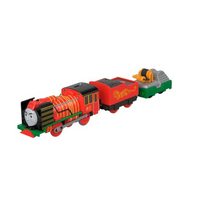 Trenulet locomotiva motorizata Yong Bao The Hero cu 2 vagoane Thomas & Friends™ TrackMaster™ FJK57 BMK93
