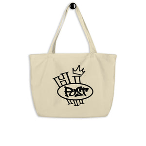 HP Hi Totes Large organic cotton tote bag (colors: Natural or Black)