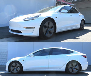 Tesla Model 3 lowered on RS-R TI2000 Down SUS Springs