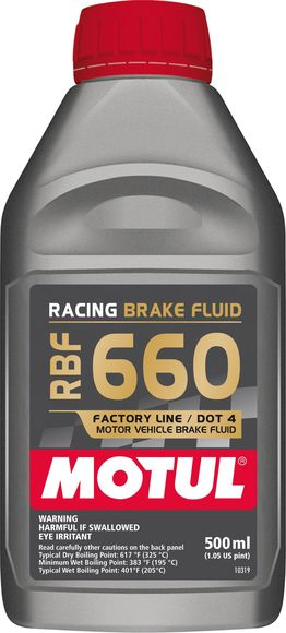 Motul 1/2L Brake Fluid RBF 660 - Racing DOT 4