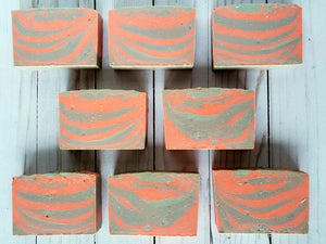 Bergamot Sandalwood Tiger Stripe Soap