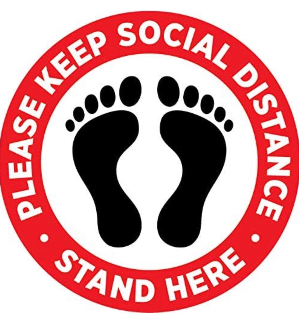 Social Distancing outdoor decal