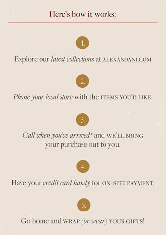 ALEX AND ANI Curbside Pickup | Select Locations