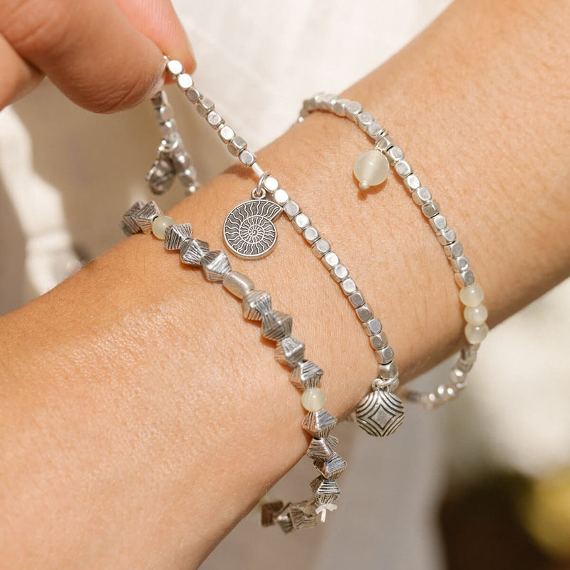 Nautilus + Ocean Multi-Charm Stretch Bracelets, Set of 3