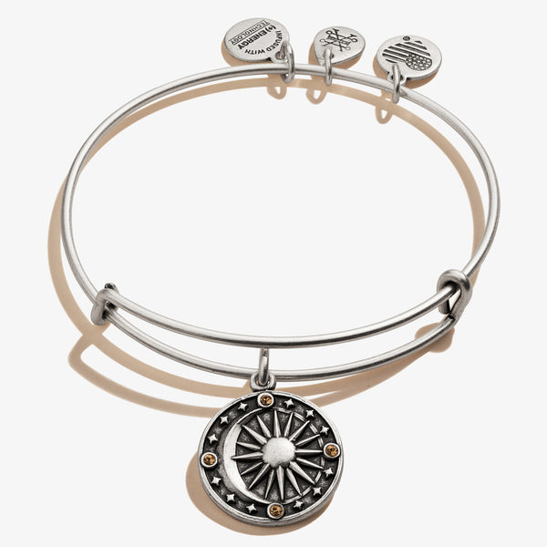 Cosmic Balance Charm Bangle, Rafaelian Silver, Alex and Ani
