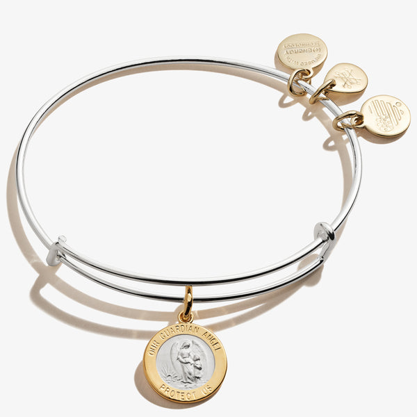 Guardian Angel Charm Bangle, Shiny Silver, Alex and Ani