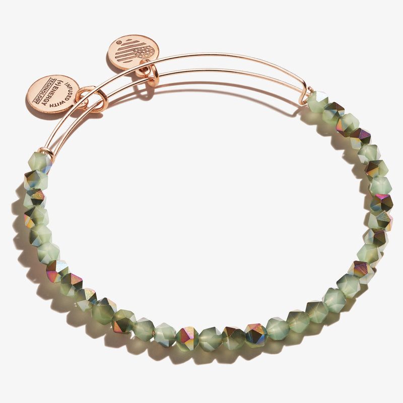 Splendor Beaded Bangle, Mint Green