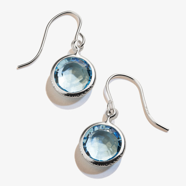 Aquamarine Birthstone Earrings, March
