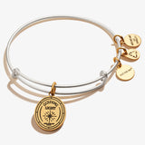 Guardian Angel Symbol Charm Bangle